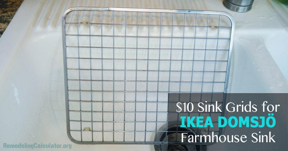 $10 Sink Grids for IKEA DOMSJÖ Farmhouse Sink