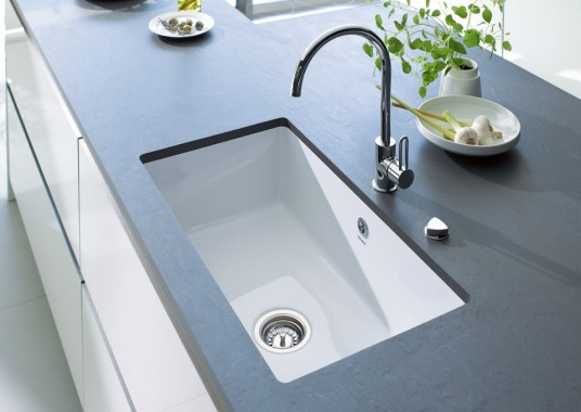 White Acrylic Deep Kitchen Sink