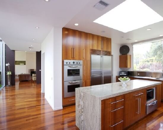 Modern Hardwood Kitchen Flooring