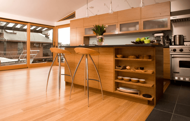 Bamboo Floor in a modern kitchen