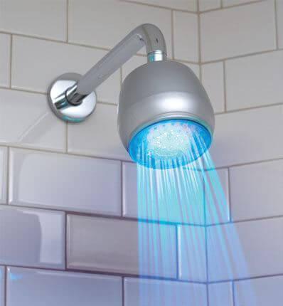 LED-lit shower head