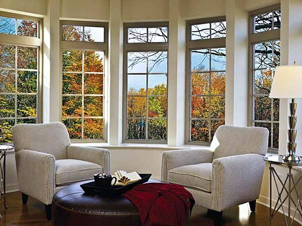 Living Room with New Replacement Windows