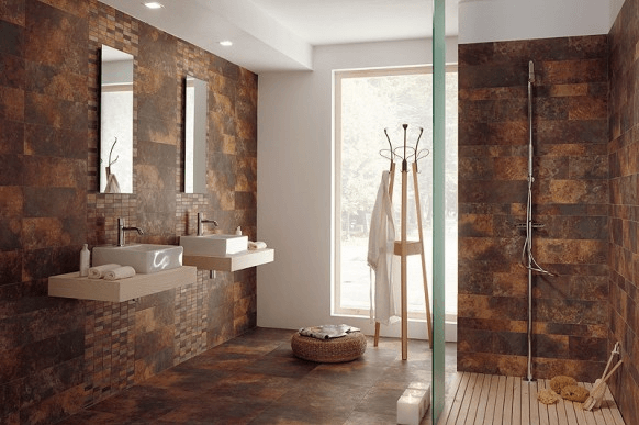 Bathroom remodel ideas tile designs for Earthy bathroom ideas