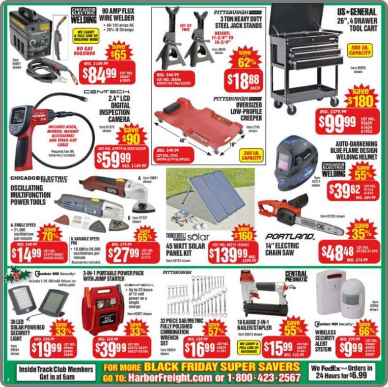 Harbor Freight Black Friday 2014 Ad Page 4