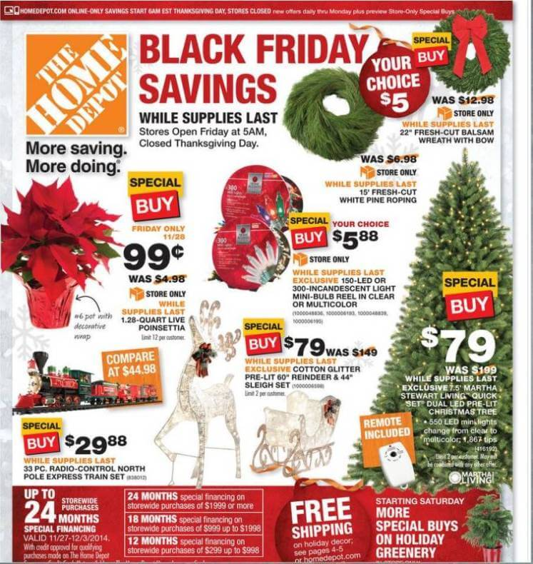 Home Depot Black Friday 2014 AD - Page 1