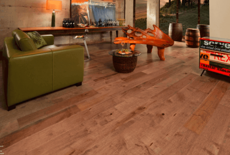 Atique Wide Plank Flooring In A Modern Living Room