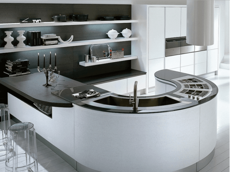 Modern Curved Kitchen Island modern modern curved kitchen island divine modern kitchen designs