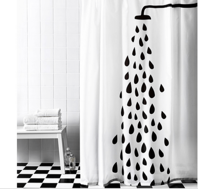 Cortinas De Baño Bed Bath And Beyond:Black and White Shower Curtain