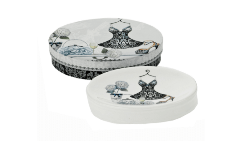 Floral Ceramic Soap Dish