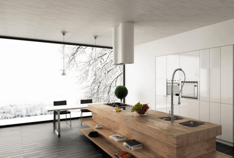 Butcher Block Kitchen Island With Sink : Modern Butcher Block Island with cook top and sinks ? Remodeling Cost Calculator