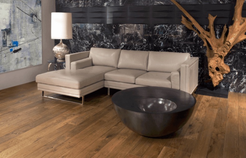 Maigan Black Ultra Modern Contemporary Living Room: 15 Reclaimed Wood Flooring Ideas For Every Room