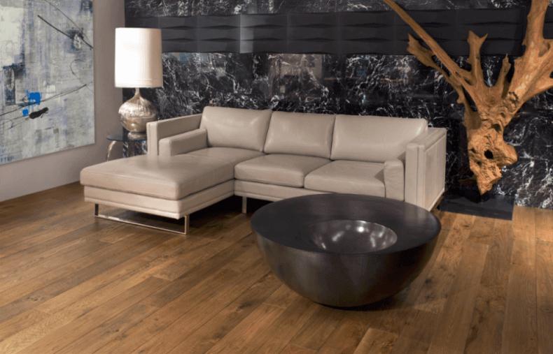 terrific modern living room hardwood floor | 15 Reclaimed Wood Flooring Ideas For Every Room ...