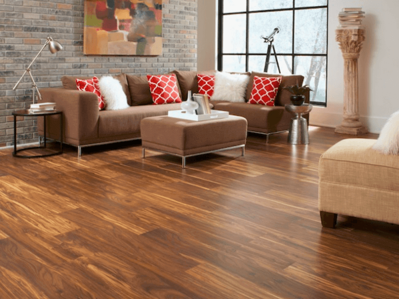 Cork Flooring Panels in  Modern Living Room