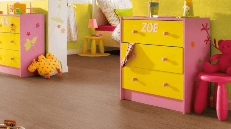 Cork Floors in a girl's bedroom