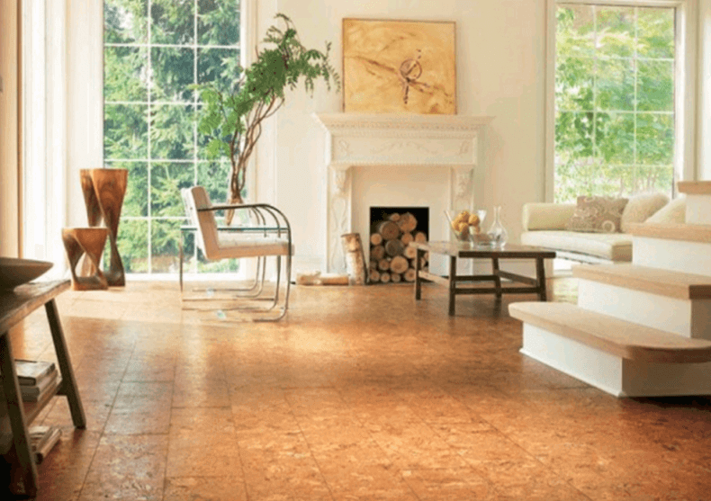 Cork floors 21 awesome design ideas for every room of for Sustainable cork flooring
