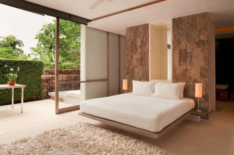 Natural Cork Flooring in a Master Bedroom