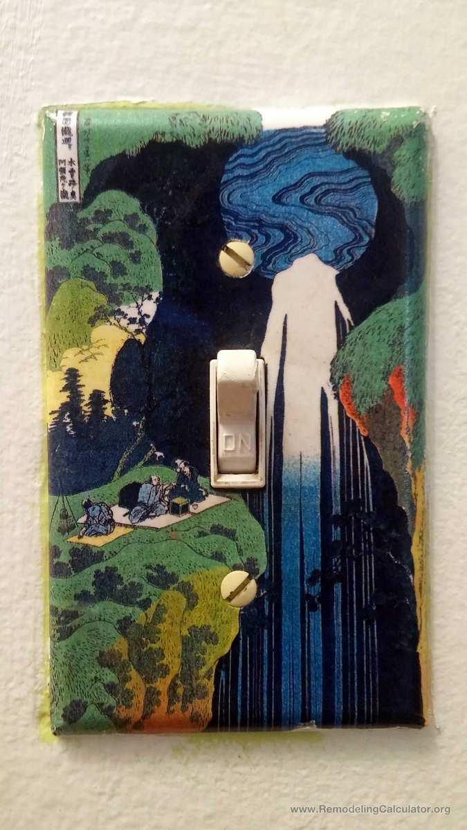 Small Bathroom Decor - Decorative Electric Switch Plate