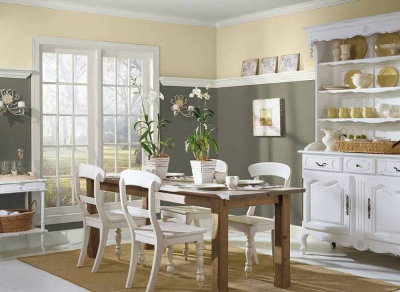 French Country Style Dining Room Color Ideas