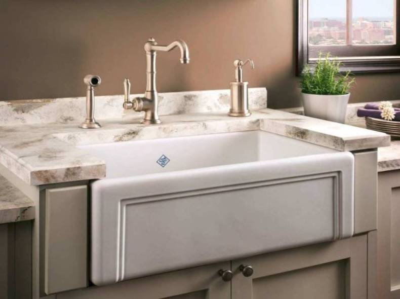 Quartz Undermount Kitchen Sinks Part - 15: White Porcelain Kitchen Sink