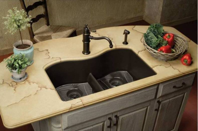 superior Drawbacks Of A Black Kitchen Sink #2: Composite Granite Kitchen Sink