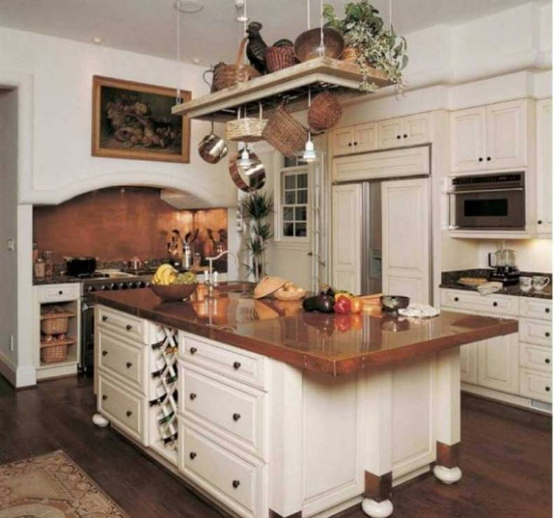 Copper Countertops In A Traditional All White Kitchen Remodeling Cost Calculator