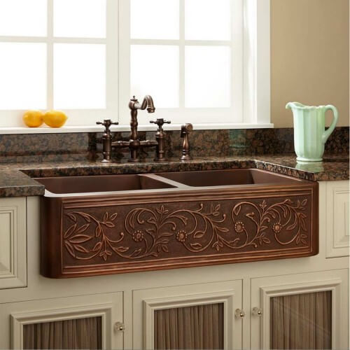 Copper Kitchen Sink Farmhouse Style