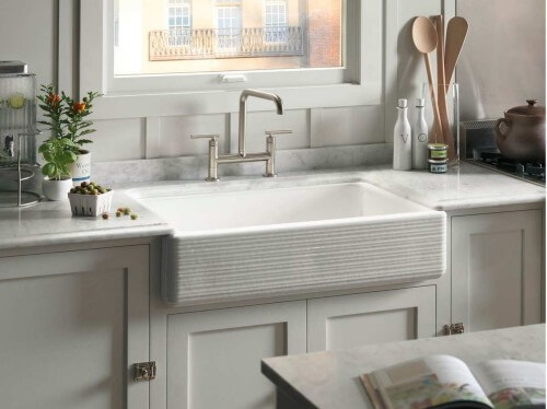 Enamel Cast Iron Kitchen Sink
