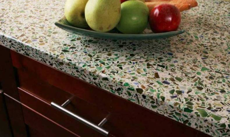 Recycled Glass Countertops Cost Vs Granite Diy Geos Cement Kitchen
