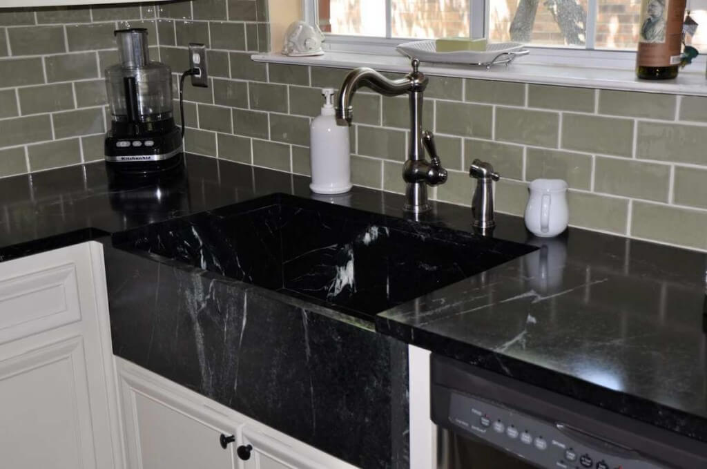 Soapstone Black Kitchen Sink