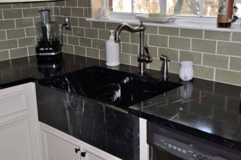 Amazing Drawbacks Of A Black Kitchen Sink #1: Get Scientific With A Soapstone Sink. Soapstone Kitchen Sink. Black  Soapstone Kitchen Sink