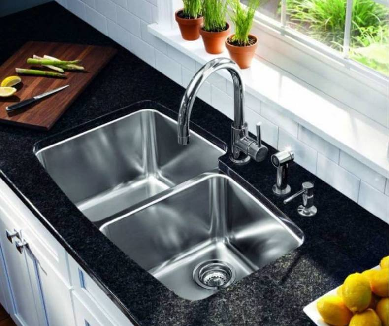 good Drawbacks Of A Black Kitchen Sink #4: Undermount, Double bowl, Stainless Steel Kitchen Sink