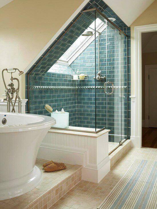 Bathroom Renovation Calculator: Attic Bathroom With Skylight