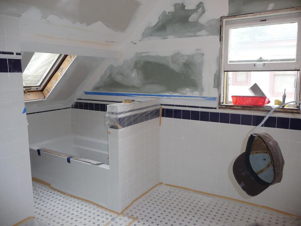 Bathroom Renovation In Progress