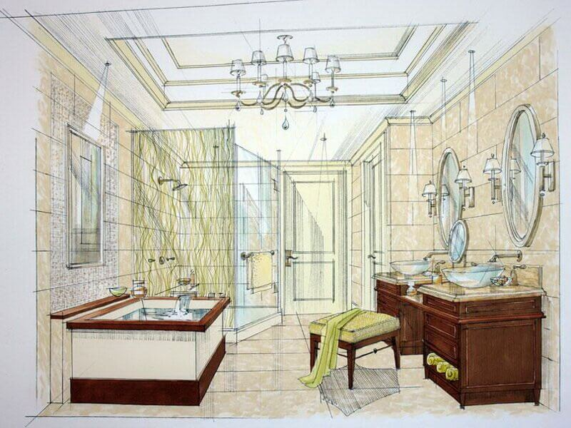 Bathroom Remodel layout plan