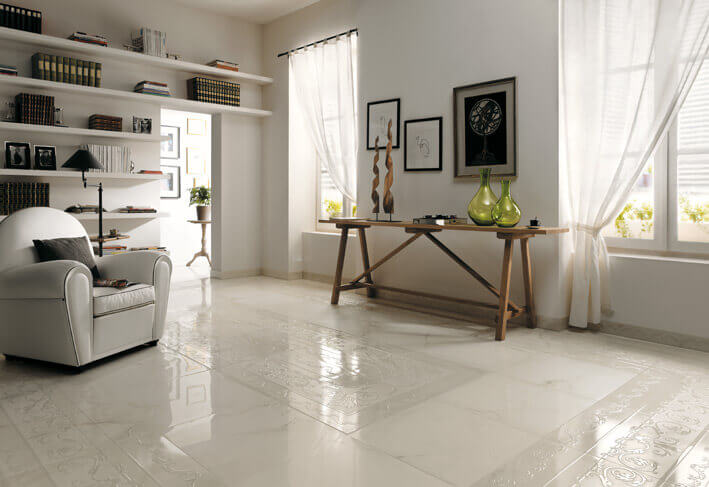 Affordable Ceramic Tile In A Traditional Living Room BEST Flooring Options Material And Installation Costs