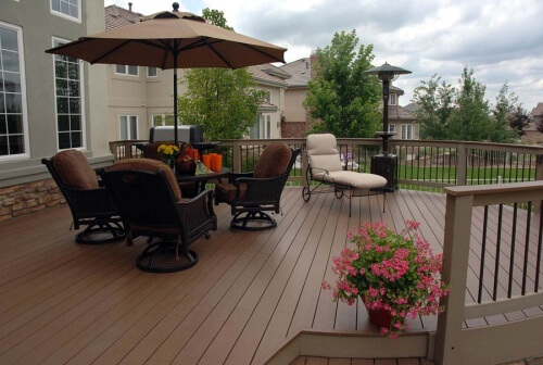 Composite Deck with Patio Furniture