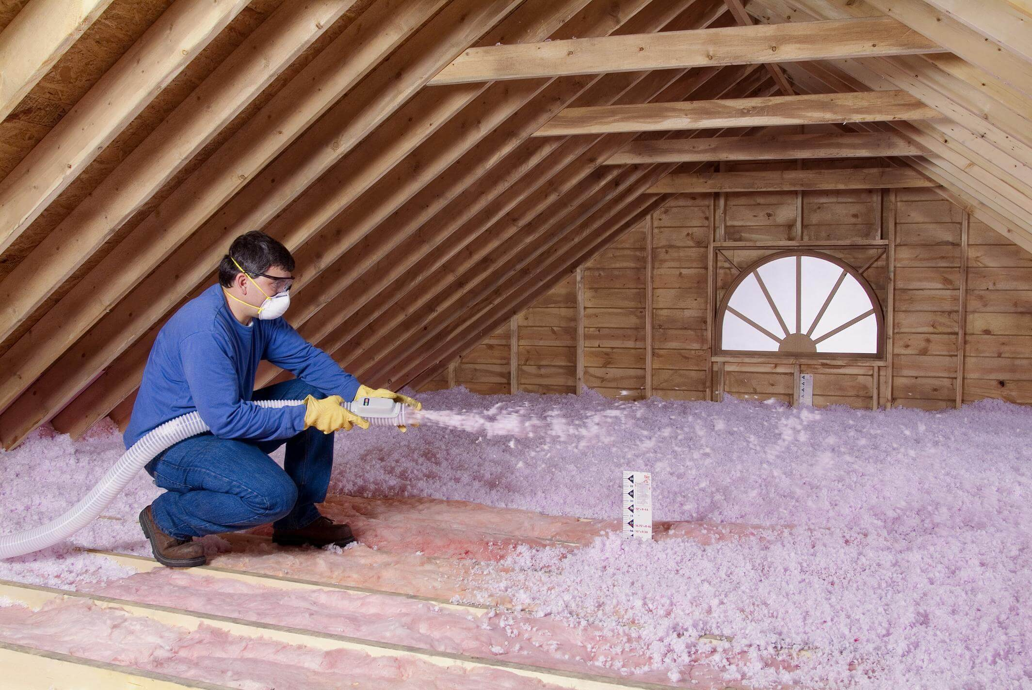 image of blown-in insulation