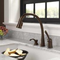 Delta Pilar Venetial Bronze Pull Down Faucet