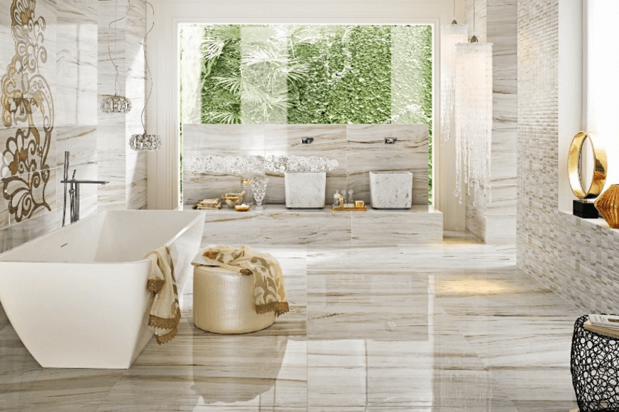 Tile flooring installation costs 2017 for Master bathroom flooring