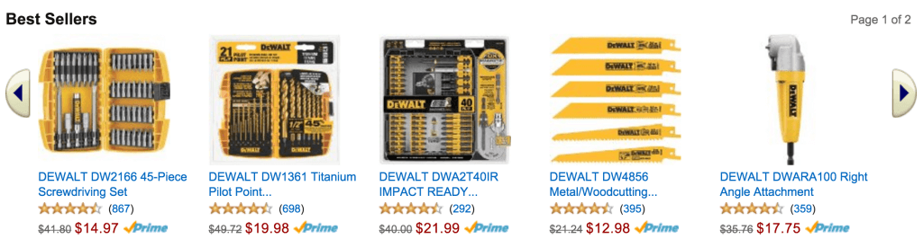 Dewalt Black Friday - Cyber Monday Sales - Amazon