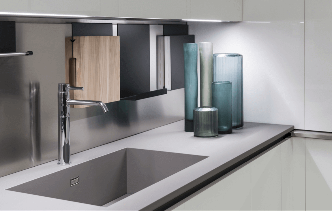 Fenix Ntm Kitchen Countertop Integrated With Sink
