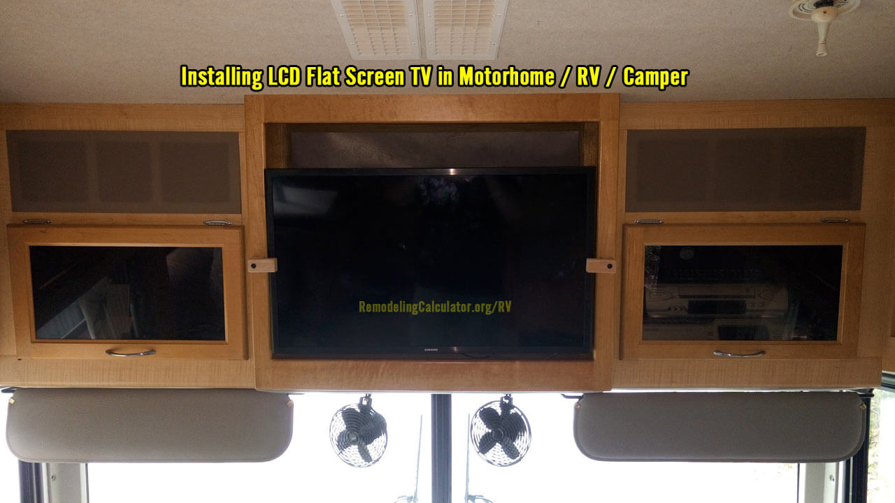 flat screen tv in motorhome    rv    camper  u2013 remodeling