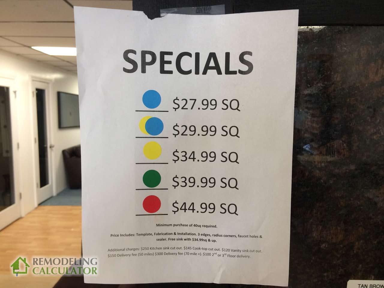 granite countertop prices in boston ma
