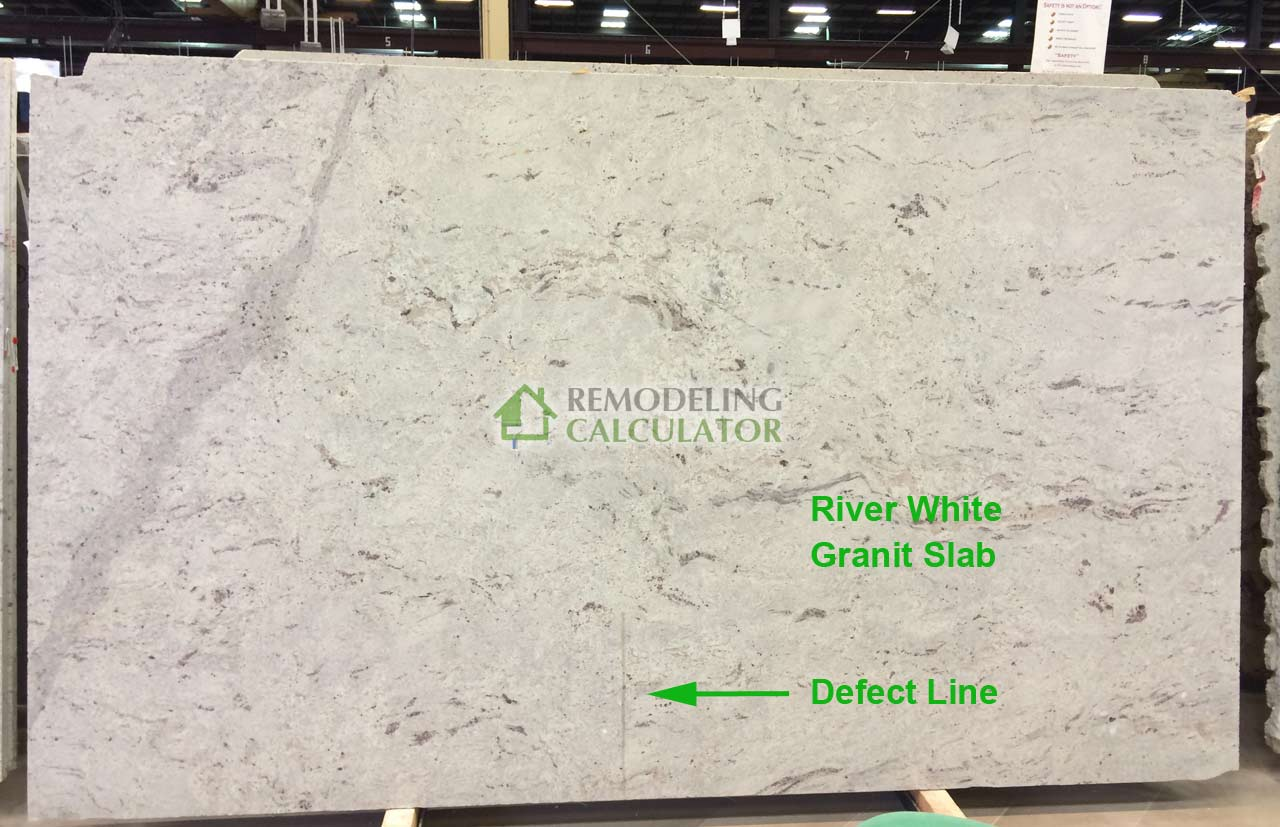 River white granite price - Granite Countertop Slab With Defect