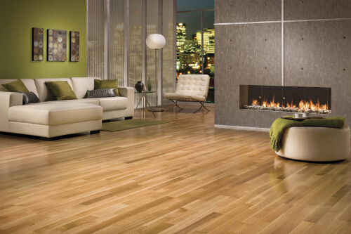 Charming Hardwood Flooring In A Modern Living Room