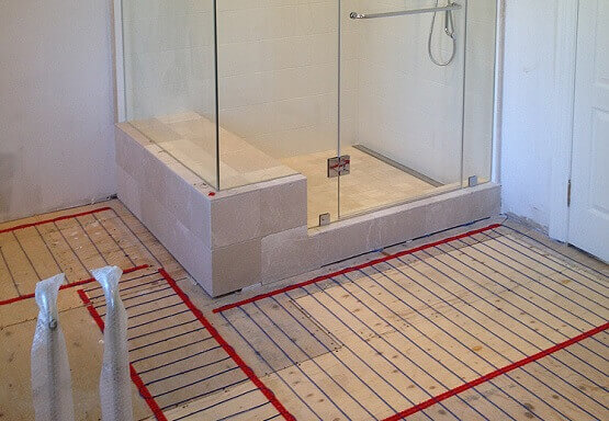 installing heated floor in bathroom heated bathroom floors 23553