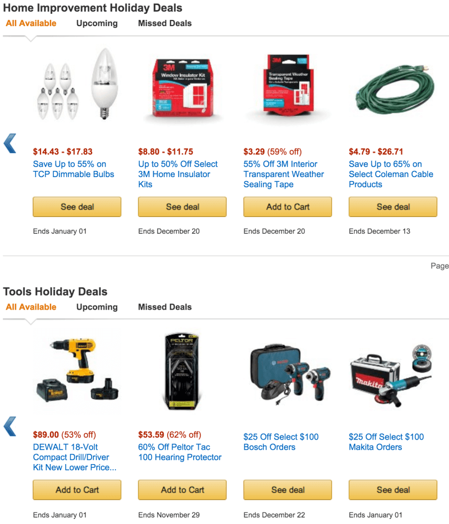 Home Improvement and Tools - Black Friday - Cyber Monday Sales - Amazon