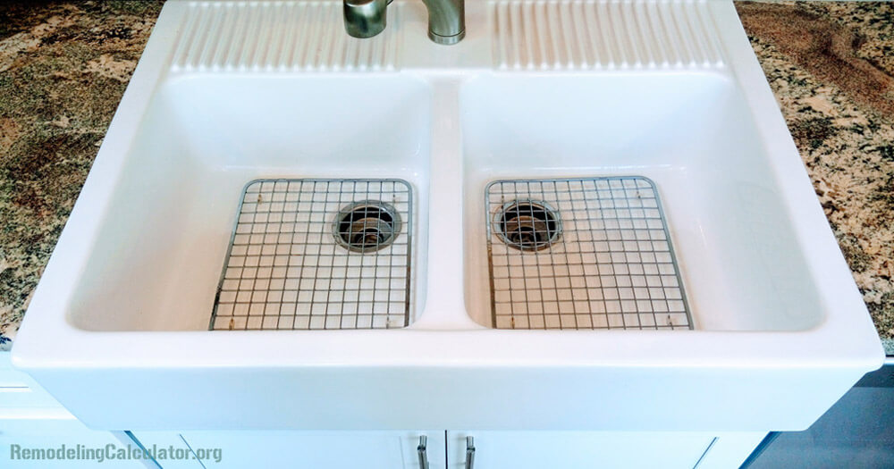 ikea domsjo double bowl sink with stainless steel grids - Kitchen Sink Grids