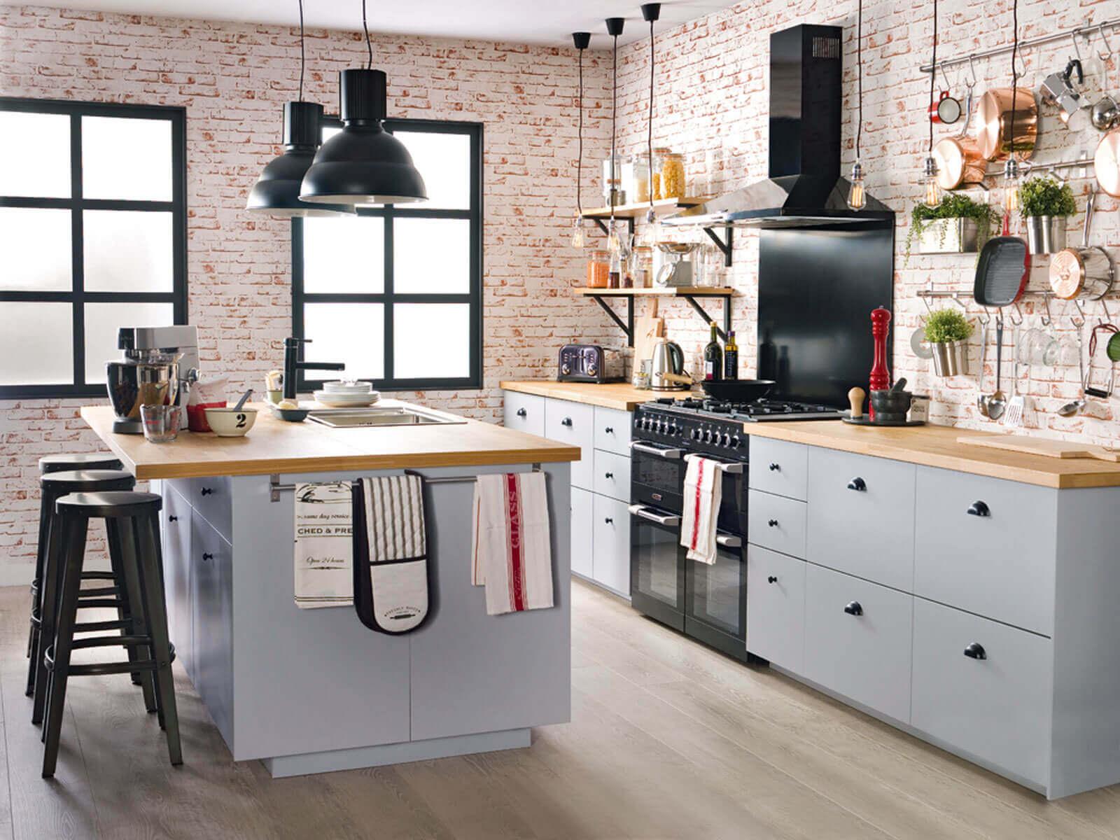 industrial style kitchen lighting