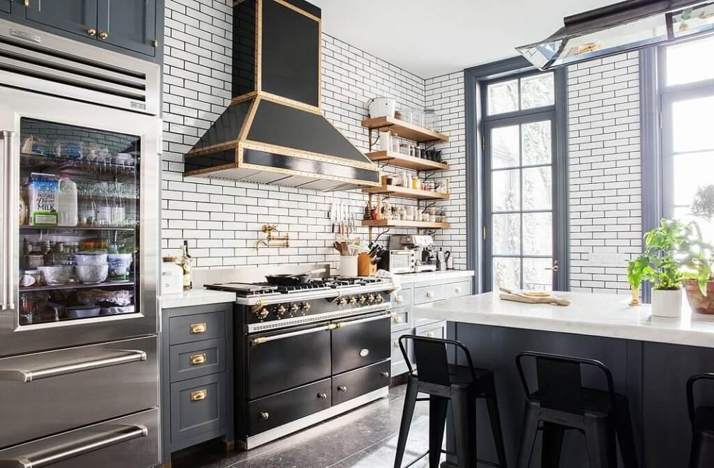 Install Kitchen Exhaust Fan in A Modern Industrial Style Kitchen